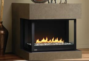 Traditional Flush Face Fireplace with logset
