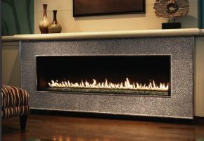 Luxury Model Contemporary Linear Fireplace