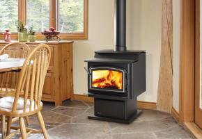 Medium step top wood stove