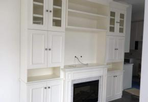 Custom cabinets and mantel